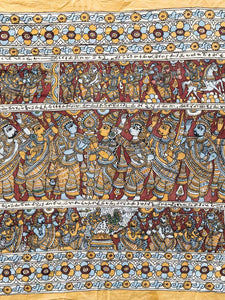 Very Large Kalamkari South Indian Wallhanging detail