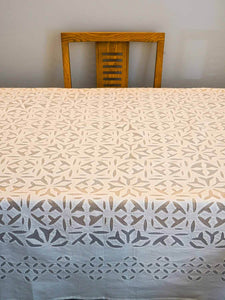White Cutwork Tablecloth from Rajasthan