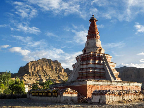 Photo of the Yeshe-O stupa, Tholing, Western Tibet