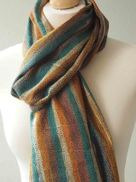 Autumn Colours Indian Silk Scarf 2
