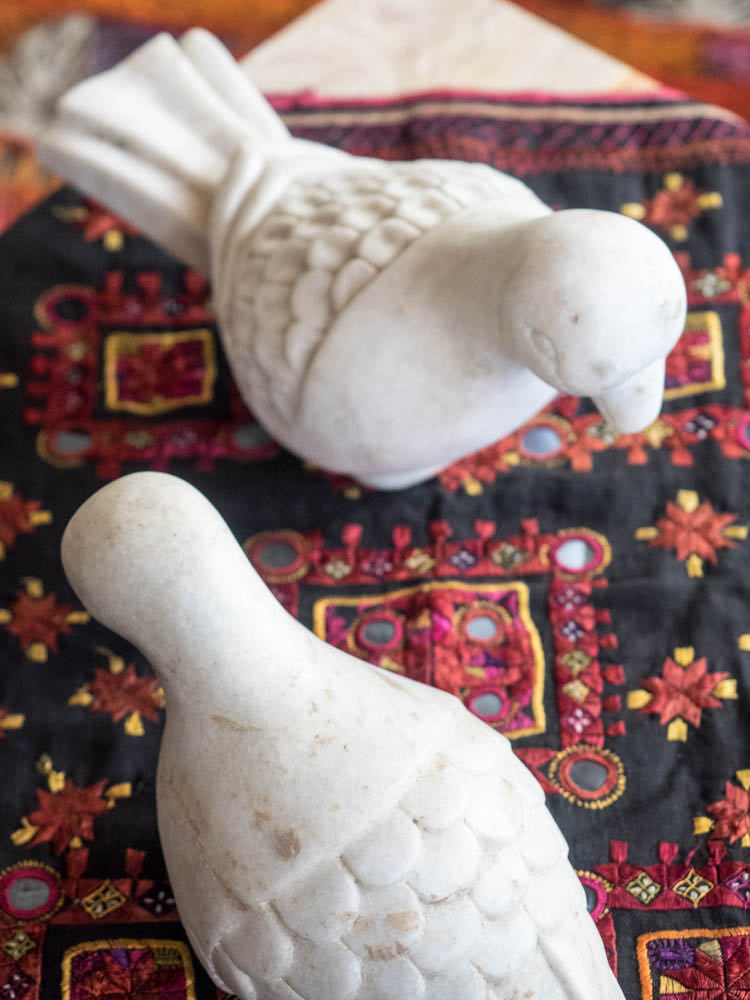 Carved Indian Marble Parrot