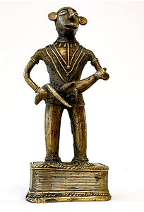 Brass Tribal Statue of an Indian Hunter