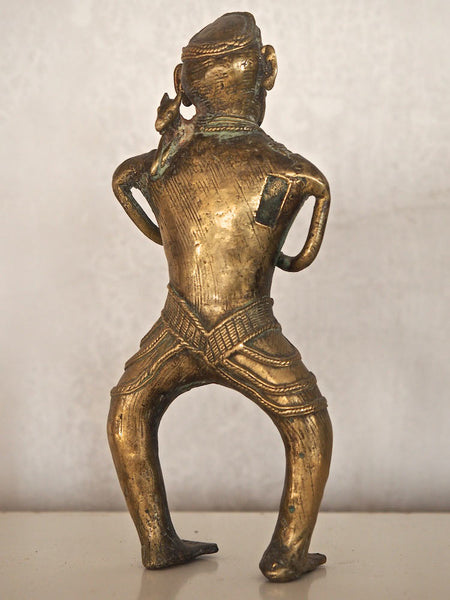 Brass Statue of a Hunter with Bow