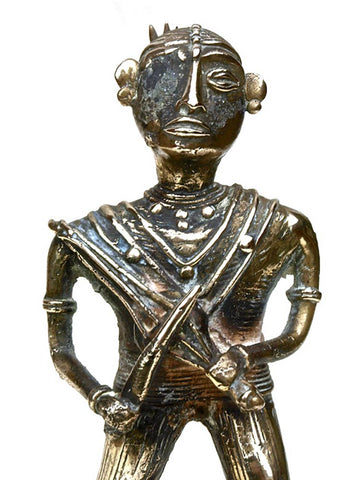 Indian Brass Statue of a Musician