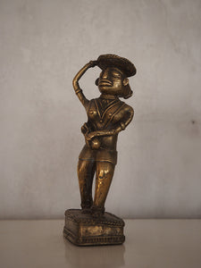 Indian Brass Statue of a Woman