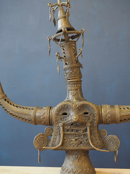 Anthropomorphic Indian Brass Tribal Statue