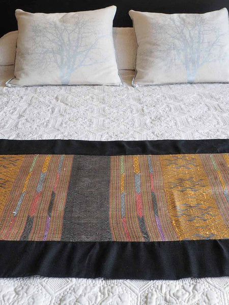 Lavender Silk Bed Runner from Laos
