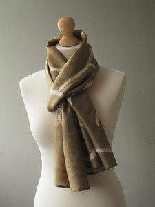 Contemporary Soft Gold Fine Silk Scarf 1