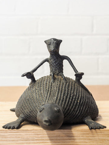 Monkey Riding Turtle Indian Sculpture 1