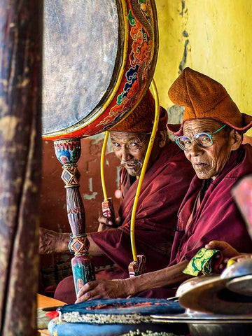 Musicians at Karsha Monastery in Zanskar 1