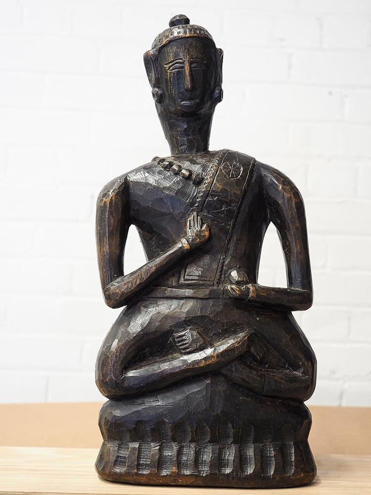 Old Wooden Buddha from Arunachal Pradesh 1