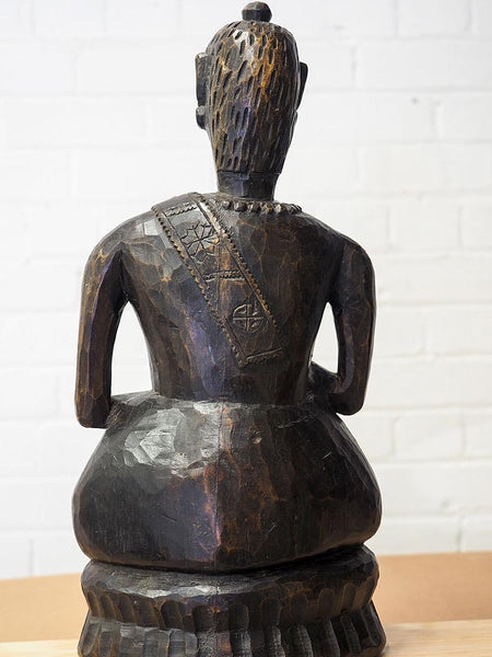 Old Wooden Buddha from Arunachal Pradesh 3
