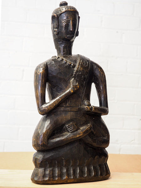 Old Wooden Buddha from Arunachal Pradesh 4