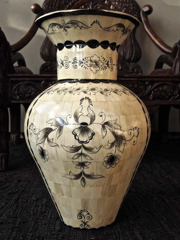 Painted Camel Bone Vase 1