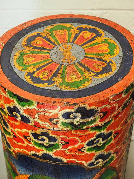 Painted Tibetan Thangka Container 4