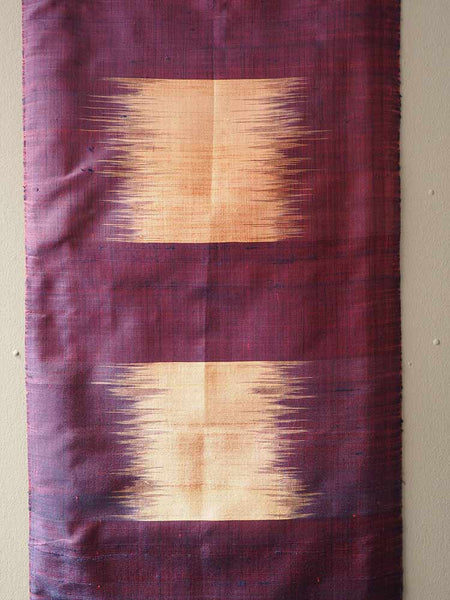 Purple/Gold Pha Tung Prayer Flag from Laos 1