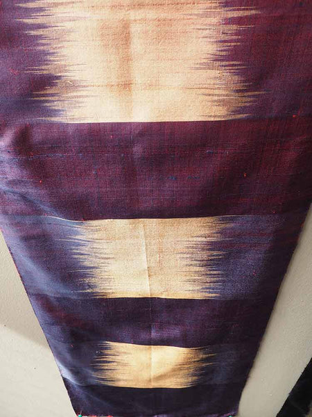 Purple/Gold Pha Tung Prayer Flag from Laos 2