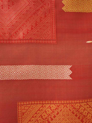 Woven Rose Silk Wallhanging from Laos 1