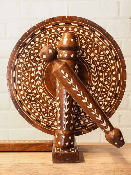 Indian Small Charkha Spinning Wheel 2