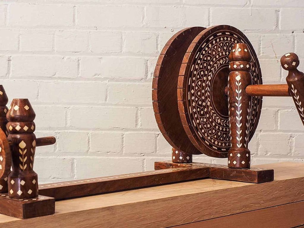 Small Charkha | Indian Spinning Wheel | Silk Road Gallery