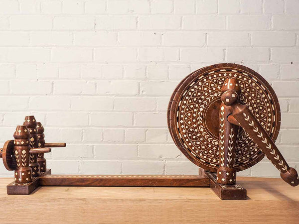 Indian Small Charkha Spinning Wheel 4
