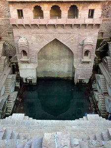 Toorji Ka Jhalara Stepwell in Jodhpur, India detail