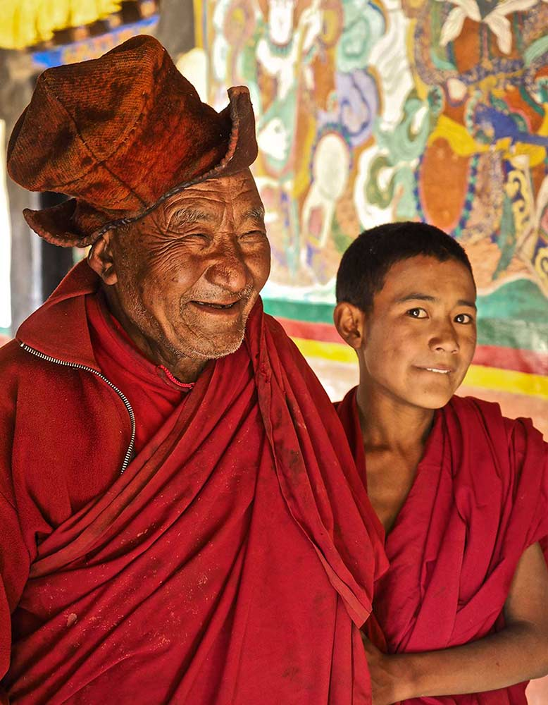 Two Monks at Muney Monastery 1