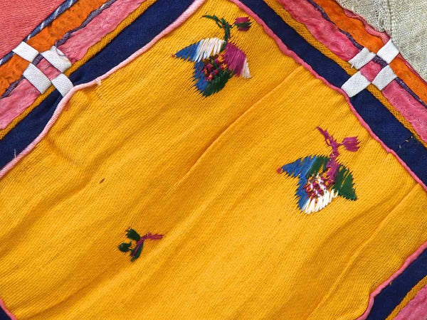 Vintage Applique Indian Silk Chakla 4