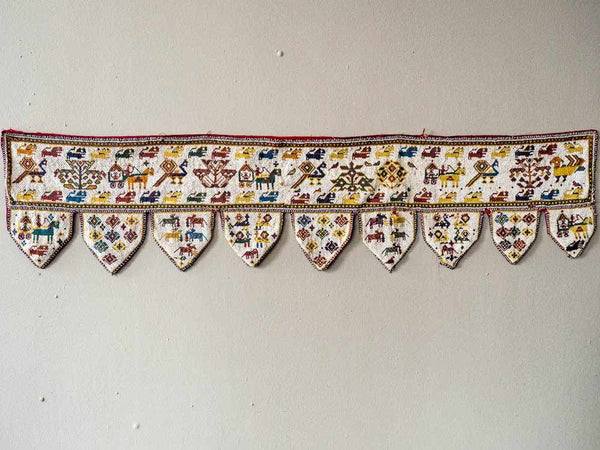 Beaded Toran Wallhanging from Gujarat, India  3