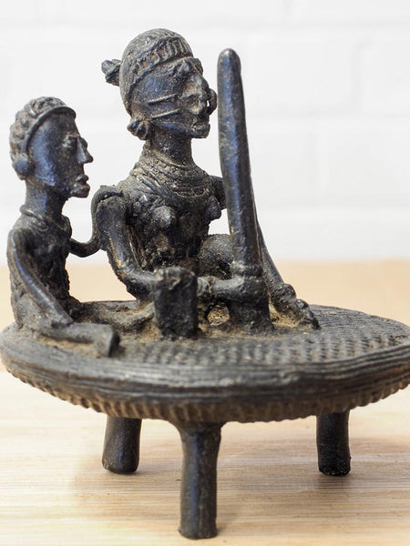 Indian Sculpture of Women Grinding Corn 2
