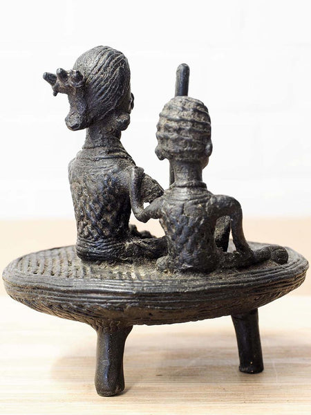 Indian Sculpture of Women Grinding Corn 3