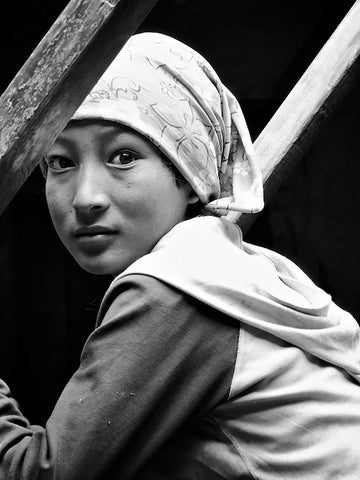 Young Monk at Luri Monastery, Mustang 1