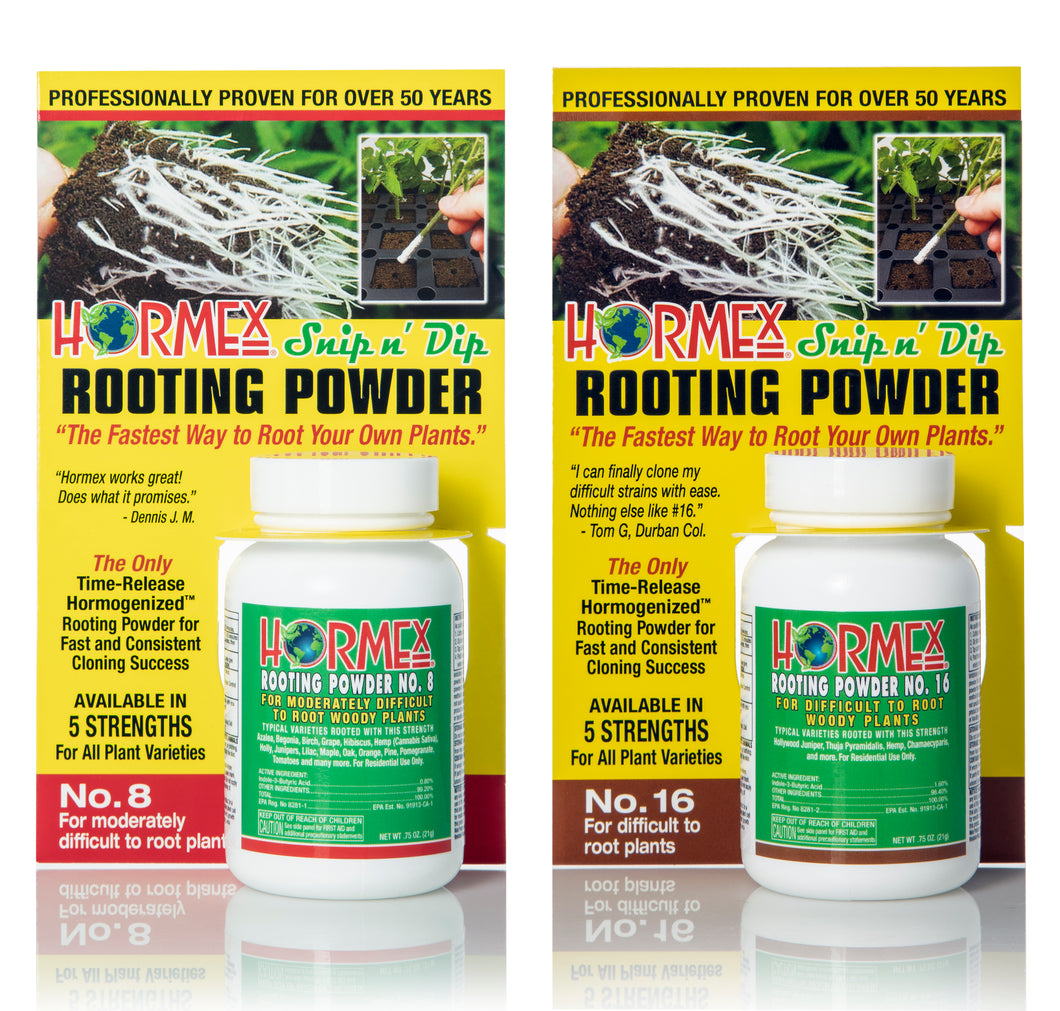 Hormex Rooting Pack #8 & 16 | For Moderately Difficult to Difficult to Root Plants