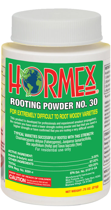 HORMEX Rooting Powder #30 - Clone Extremely Difficult to Root Plants - 3/4 oz