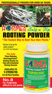 HORMEX Rooting Powder #8 - For Moderately Difficult to Root Plants - 3/4 oz