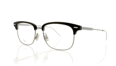 Dior Homme 0215 TSJ Black Metal Grey Glasses at OCO