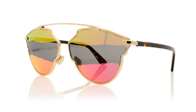 Dior So Real A J5G Gold Sunglasses at OCO