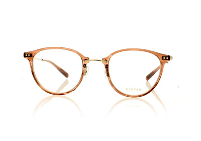 Eyevan 7285 Hansa CB Crystal Brown Glasses at OCO