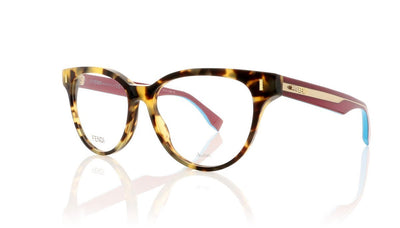 Fendi FF0164 VJH Light Havana Sunglasses at OCO