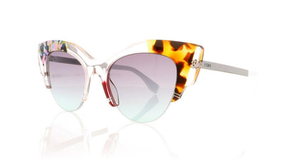 Fendi FF0178/S TKU Pink Pattern Sunglasses at OCO