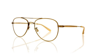 Garrett Leight Linnie 3020 BG-BN Brushed Gold Glasses at OCO