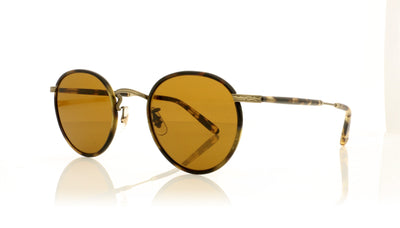Garrett Leight Wilson TO-ATGII-YT/SFPB Tortoise-Antique Gold II Sunglasses at OCO