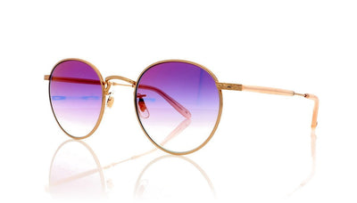 Garrett Leight Wilson M 4005 RG PBL/MGLM Rose Gold Sunglasses at OCO