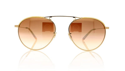 Garrett Leight Innes 4023 GLE/BZSHM Gold Lame Sunglasses at OCO