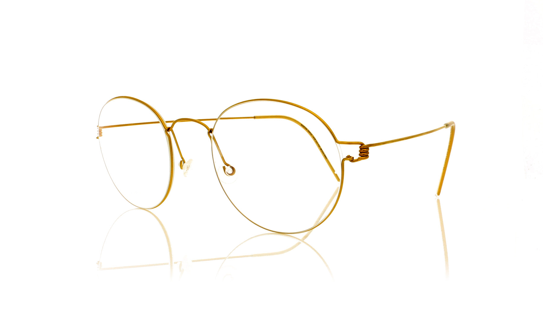 Lindberg Morten Pgt Shiny Gold Glasses Oco