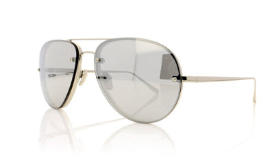 Linda Farrow LFL/307 C2 Lf Wht Gld Sunglasses at OCO