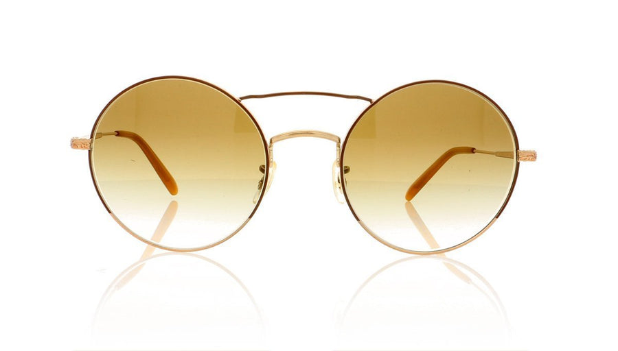 6b8074f108f Oliver Peoples Nickol OV1214S 52718E Brushed Gold Sunglasses at OCO