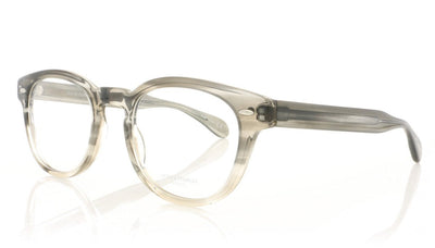 Oliver Peoples Sheldrake OV5036 1372 Grey Textured Tort Grad Glasses at OCO