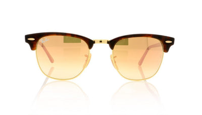 Ray-Ban CLUBMASTER RB3016 990/70 Maple Rubber Brown Sunglasses at OCO