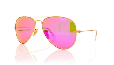 Ray-Ban Aviator RB3025 112/4T Matte Gold Sunglasses at OCO